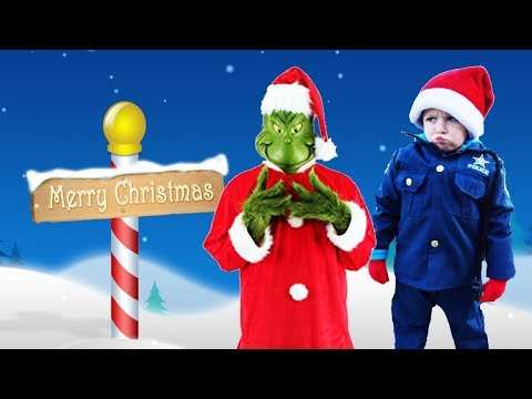 Download Youtube: Where's Santa's helper? Christmas holiday video featuring the Grinch and silly funny kids