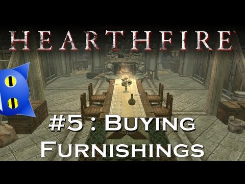 Let's Play Skyrim - Hearthfire - 5 : Buying Furnishings From The Steward