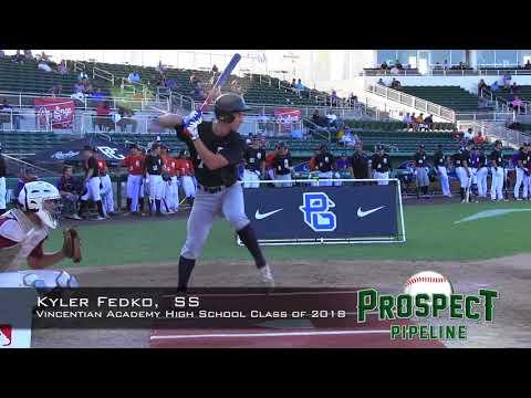 Kyler Fedko prospect video, SS, Vincentian Academy High School Class of 2018