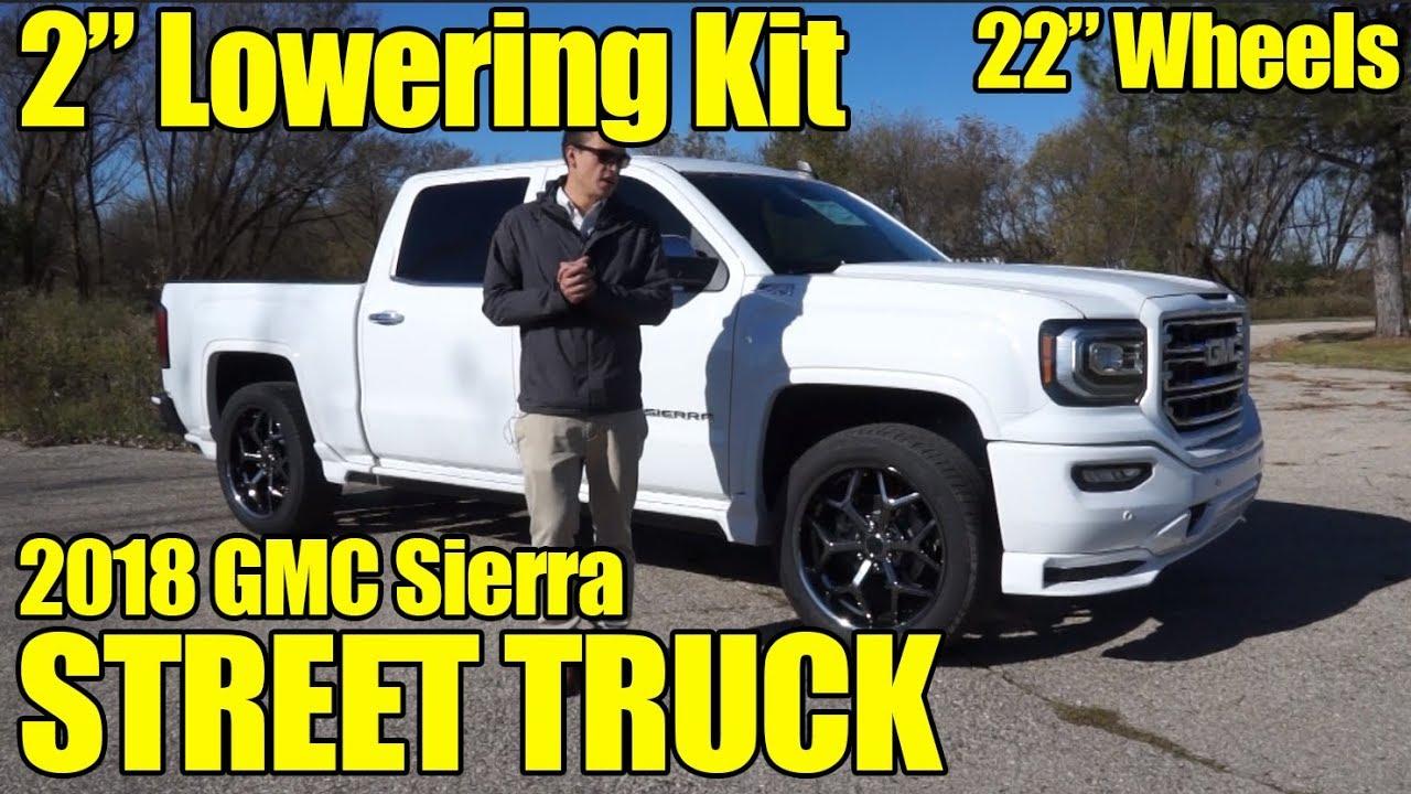 """2"""" LOWERING KIT! 22"""" WHEELS! 2018 GMC Sierra SCA ..."""