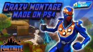 *CRAZY* FORTNITE MONTAGE EDITED ON PS4!😱 (SHAREFactory) DOPE KILLS/CLUTCH MOMENTS Ep.5 GG