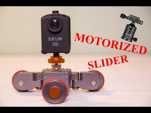 Andoer Motorized Dolly SLIDER + TRIPOD HEAD REVIEW