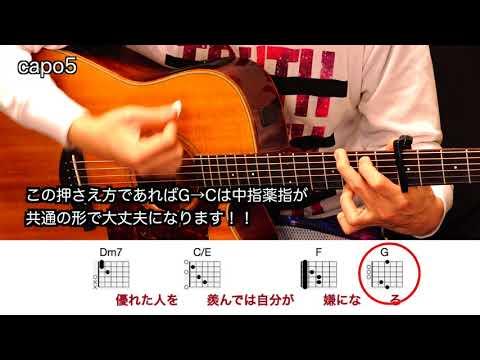 (歌詞コード付き)ノンフィクション/平井堅 『動画とコード図で譜面がわからなくても、ギター初心者でも問題ありません♬』解説動画