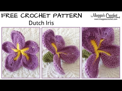 iris flower crochet diagram wiring diagram  iris pattern by happy patty crochet