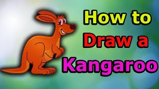 How to Draw a Kangaroo Step by Step | Draw a Kangaroo for Beginners & Kids Easily