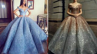 LATEST OFF SHOULDER BALL GOWN DESIGNS COLLECTION 2019 || PROM DRESS || EVENING DRESS