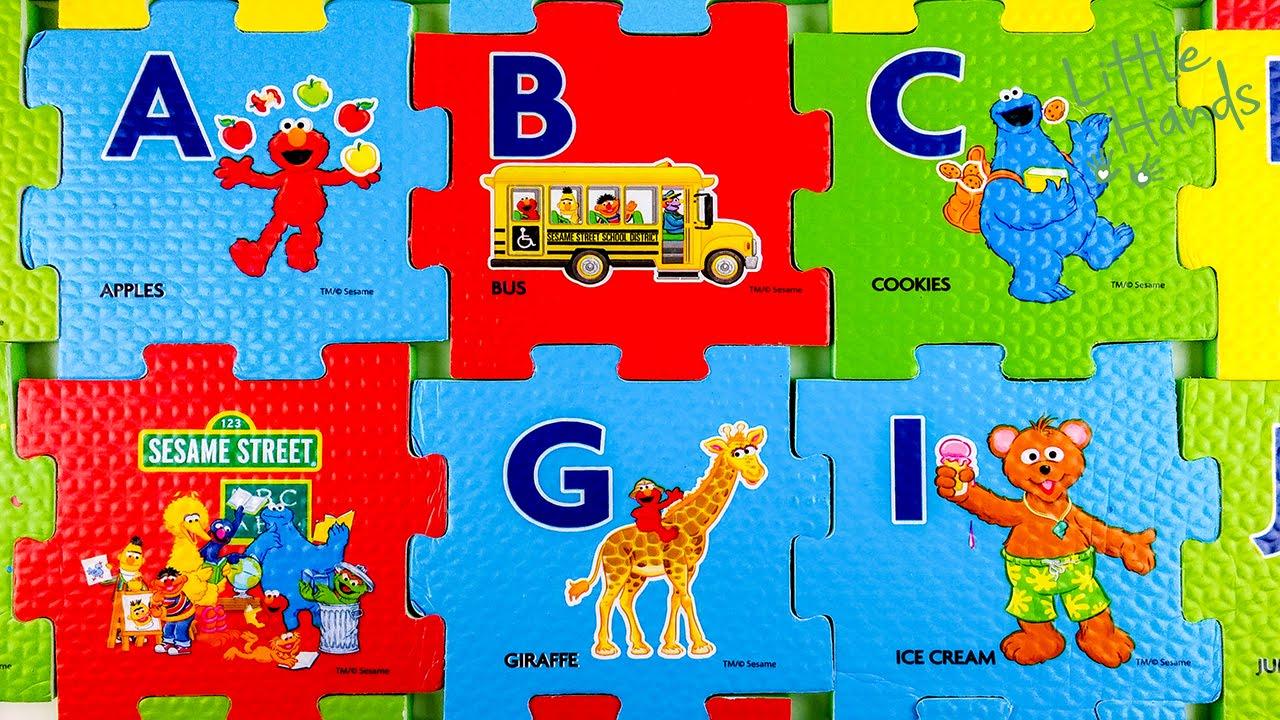 Abc Sesame Street Foam Puzzle For Toddler Kids English 英語 パズル