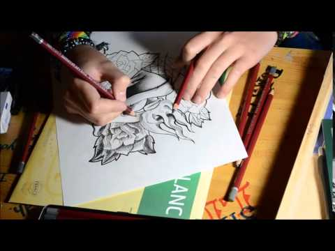 Dessin tatouage style new school youtube - Dessin new school ...