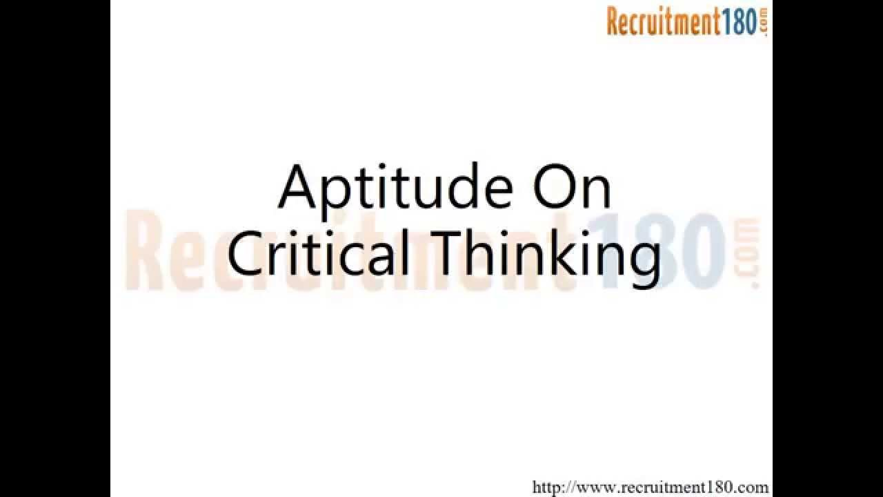 Critical Thinking Interview Questions and Answers - YouTube