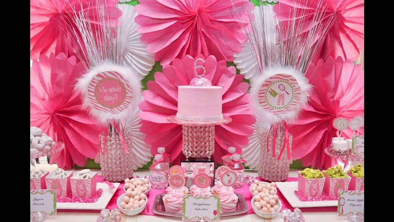 good Diy Princess Party Decoration Ideas Part - 11: Cute Princess themed birthday party decorating ideas - YouTube