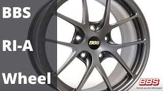 The BBS RI-A Wheel takes after the BBS Motorsport Y-Spoke design used for top race teams world-wide.  This One-piece Die Forged wheel with patented milling process inside the spoke area is great for use on both street and track. The RI-A is tested to the
