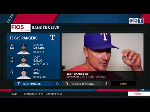 Jeff Banister talks about Mike Minor's effort in a loss