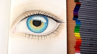 Рисую цветными карандашами ГЛАЗ. Мой ЛД. Творческий дневник.