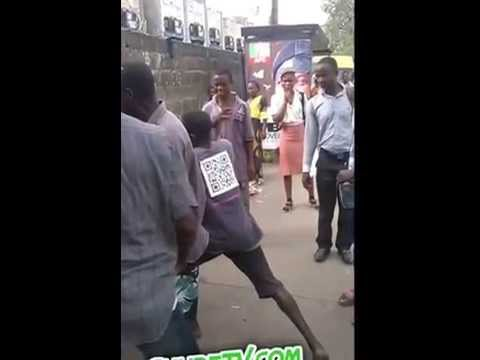 Two Abokis In Serious Fight At Maryland Lagos thumbnail