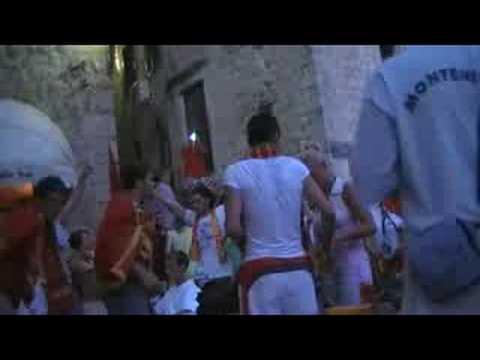 Montenegro`s sport fans sings hrabri sokoli by perper