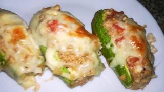 Лодочки из кабачков   Блюда из кабачков