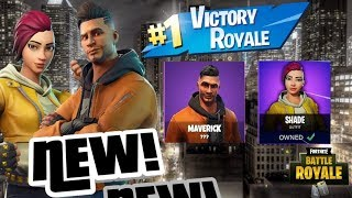 NEW EPIC ITEM SHOP NEW MAVERICK & SHADE SKINS FORTNITE BATTLE ROYALE