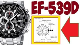 Casio Edifice EF-539D-1A set time, date, chronograph