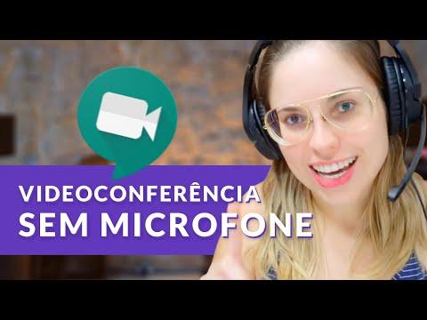 Como fazer uma videoconferência sem microfone no Hangouts Meet (Série Meet e Chat - Ep. 05)