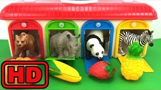Kid -Kids -ZOO Animal Toy Surprises/Tayo Bus Depot Toy/Learn Colors And Fruits/Children Toy Surpris
