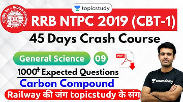 6:30 PM - RRB NTPC 2019 | GS by Aman Sir | 1000+ Expected Questions (Carbon Compound)