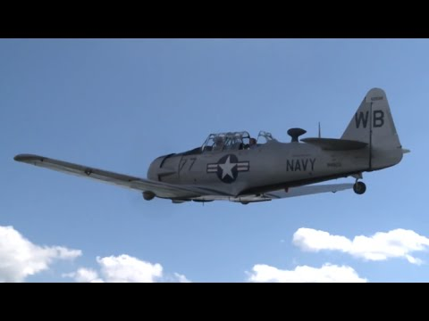 T-6 Texans Historic DC Fly Over Landing Take-Off Fly Past USAF Harvard Video CARJAM 4K TV HD 2015