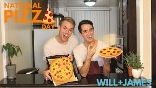 Boyfriends make pizza! | National Pizza Day
