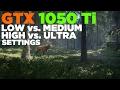The Hunter: Call of the Wild   i5 2500   GTX 1050 Ti   Low vs. Medium vs. High vs. Ultra Settings