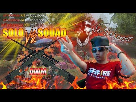 AWM RANGKED SOLO VS SQUAD MASIH BISA BECANDA? - GARENA FREE FIRE