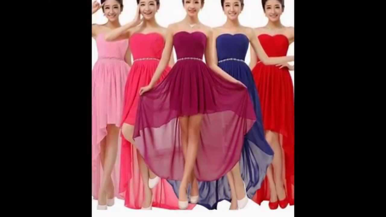 VESTIDO DAMAS DE HONOR 0001 - YouTube