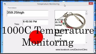 k type thermocouple max6675 and arduino | max6675 and arduinoTemperature monitoring on Visual basic