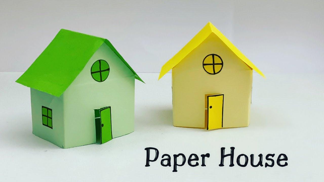 DIY MINI PAPER HOUSE / Paper Craft / Easy Origami  House DIY / Paper Crafts Easy / House DIY