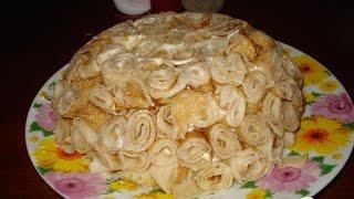 Салат Блины с сюрпризом  Пошаговый рецепт с фото