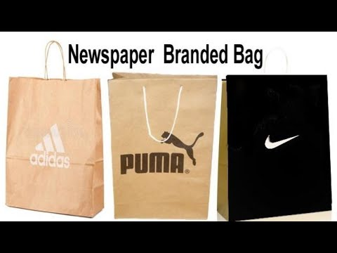 how to make a paper bag with newspaper easy