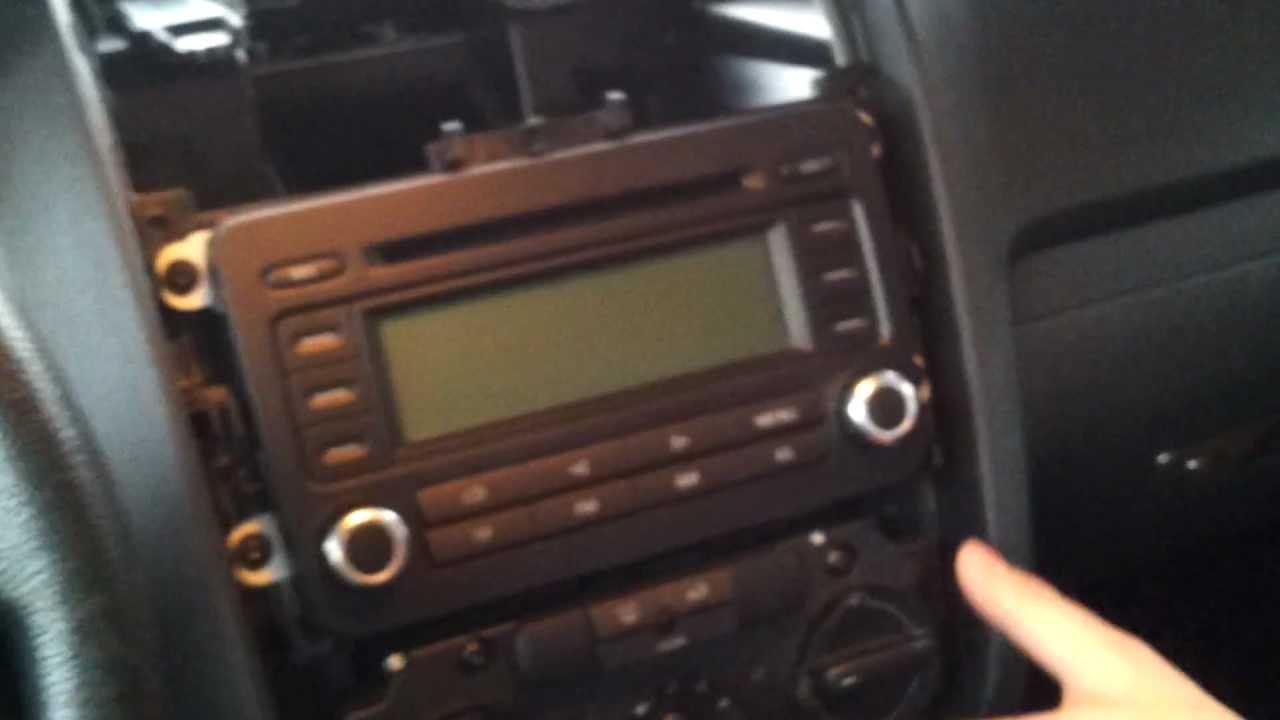 2006 Vw Passat Wiring Diagram Rcd 300 Ausbau Amp Einbau Golf Plus Radio Youtube
