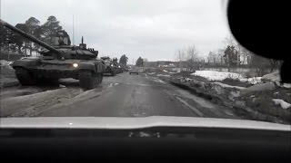 Колонна военной техники выехала на улицы Екатеринбурга