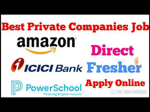 Best Private Company Jobs 2019 Apply online