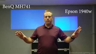 Video Projector 4 Corner Keystone Shoot Out Challenge! Epson 1940W vs BenQ MH741