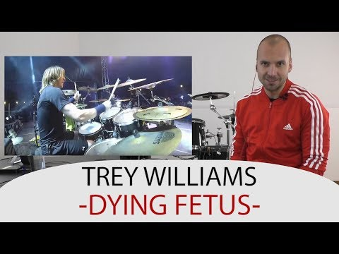 Drum Teacher Reacts To Trey Williams  - Drummer Of Dying Fetus