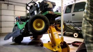 John Deere STX38 Muffler Repair