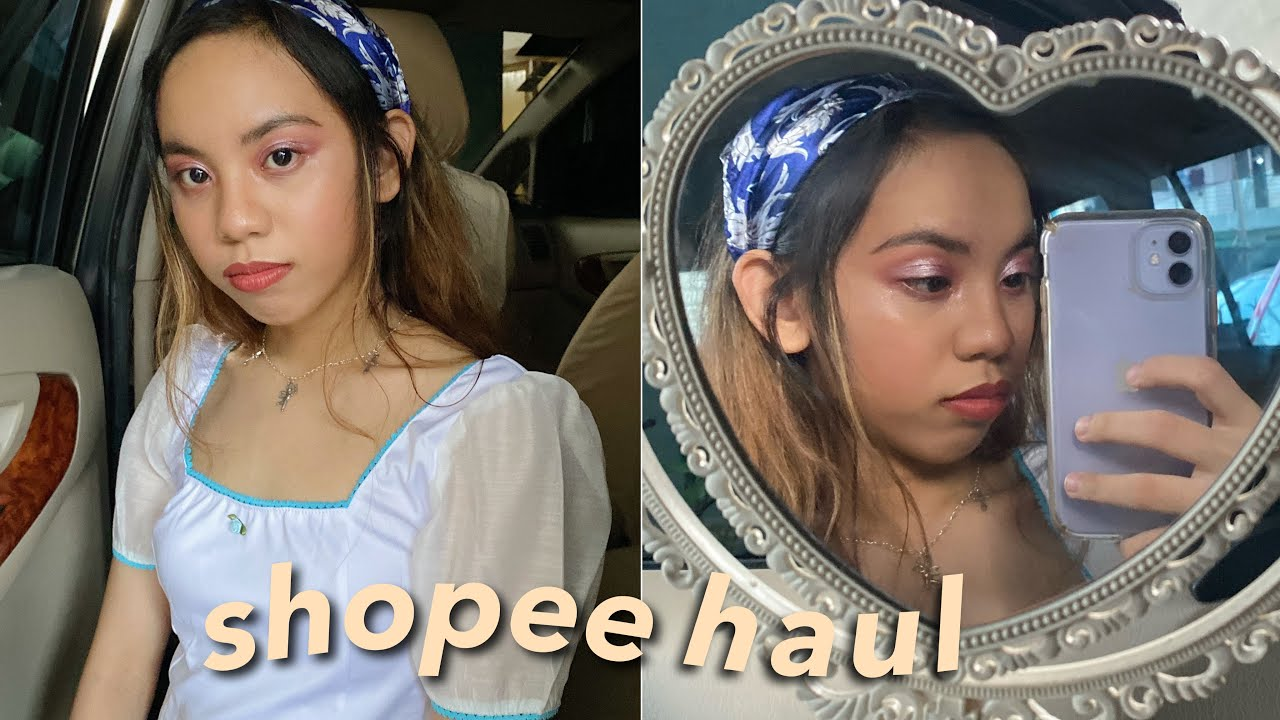 BEST SHOPEE TRY-ON HAUL ☁️✨ (trendy & aesthetic clothes, bags, accessories) 7.7 SALE | philippines