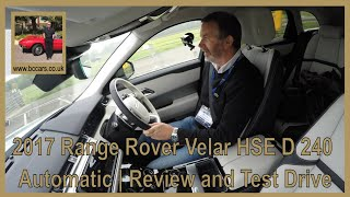 Review and Virtual Video Test Drive In A Range Rover Velar HSE D 240 Automatic  2