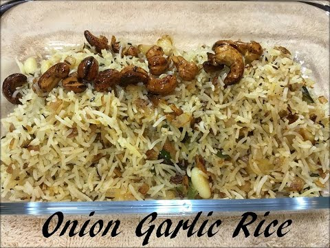 onion-garlic-rice-recipe-i-प्याज-लहसुन-की-चावल-i-vid#156-i