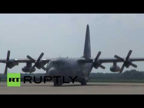 Netherlands: Bodies of MH17 victims arrive in Eindhoven