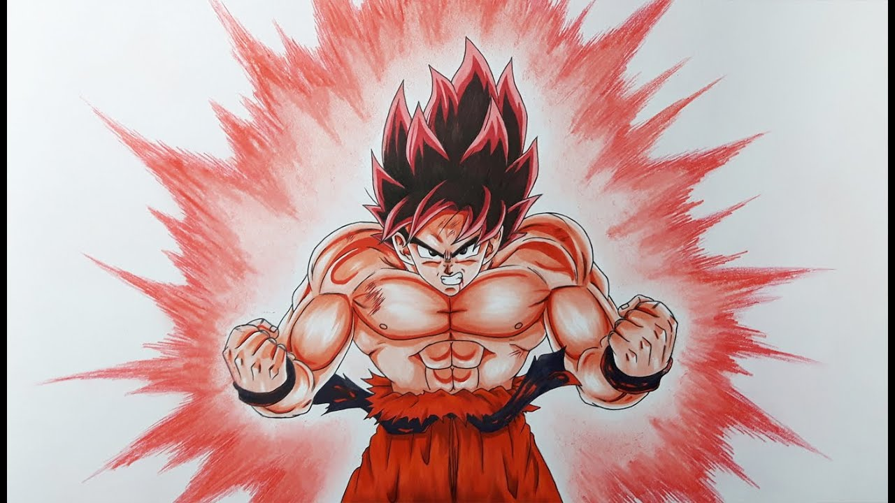 Drawing goku kaioken