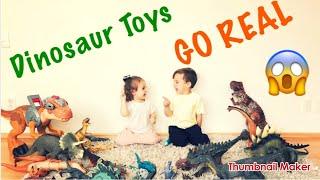 Dinosaur Escape Room | Dino Toys GO REAL | Giant T-Rex Dinosaur videos for children