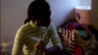 imani practicing flute 1