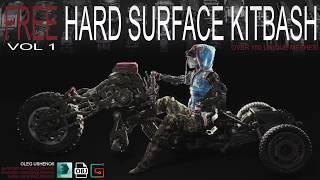 FREE Hard Surface Kitbash (made in Fusion 360)