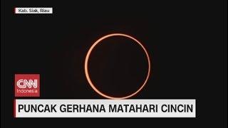 Detik-detik Puncak Gerhana Matahari Cincin di Siak