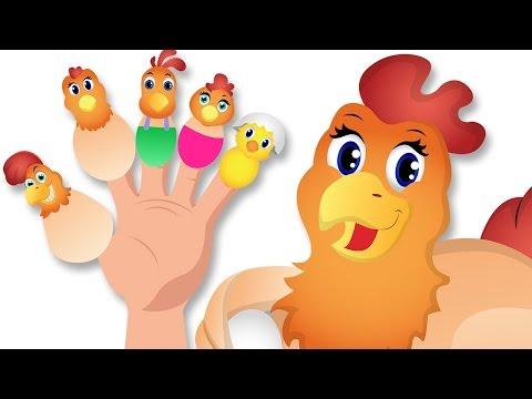 Gallina dedo de la familia | Las canciones en animales con Letras